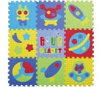 """GB-M1703. Детский игровой коврик-пазл """"Космическое пространство"""", 92х92 см. Baby Great"""