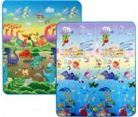 """LP013-150. Детский двусторонний коврик """"Динозавры и Подводный мир"""", 150х180 см. Limpopo"""