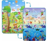 """LP010-120. Детский двусторонний коврик """"Сафари-пикник и Подводный мир """", 120х180 см. Limpopo"""