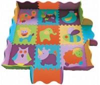 """GB-M129А2E. Детский игровой коврик-пазл """"Веселый зоопарк""""  122х122 см. Baby Great"""