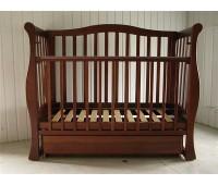 413. Кроватка Grazia Lux (BKP-S-B) Nussbaum (орех). Baby Sleep