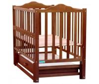 411. Кроватка Gloria (BKP-S-B) Nussbaum (орех). Baby Sleep