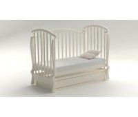 Pulsante-3. Кроватка детская «Pulsante-3-Мона» (белая, бежевая).