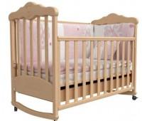 Pulsante-4. Кроватка детская «Pulsante-4-Мишка» (белая, бежевая).