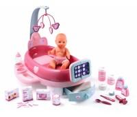 """Smoby. Игровой центр """"Baby Nurse"""" для ухода за куклой с пупсом 32 см, лекарствами и аксес. 024223"""