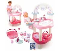 Smoby. Игровой центр Baby Nurse для ухода за куклой с аксессуарами. 024663