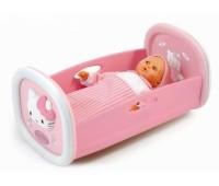 Smoby. Колыбелька Hello Kitty для куклы. 024062
