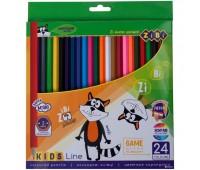 Цветные карандаши, 24 цветов, KIDS LINE *