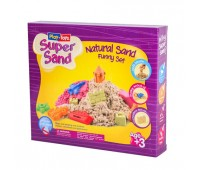 Кинетический песок 500 гр с инструментами и песочницей (12)