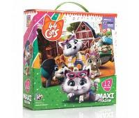 "Макси пазлы картонные ""44 Коти. На ферме"" VT1722-01 (укр) (6)"