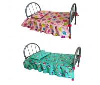 Кроватка MELOGO 9342 (HT) для кукол 2цв.кул.46*25*32 /12/ *