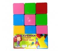Кубики цветные БОЛ 12шт  (16)