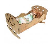 Іграшкове ліжко для ляльок 43*23(фанера) *