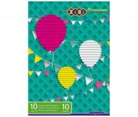 Бумага цветная (супер цвета), А4, 10 лист, 10 цветов, KIDS Line