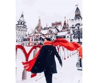 Красный шарф зимой *
