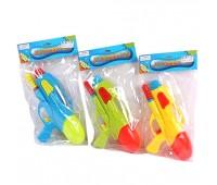 Водяной пистолет 665 (120шт/2) 3 цвета, с насосом, в пакете 28см *