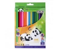 Цветные карандаши, 18 цветов, KIDS LINE