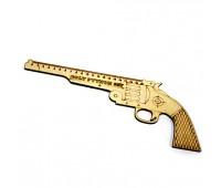 """Линейка-пистолет """"Colt Python 357"""" 20 см, деревянная"""