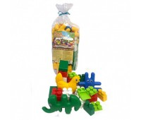 Детский набор 1: конструктор, заяц, конь, курочка, слон