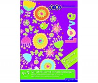 Набор цветного картона и бумаги, А4, 9 лист. картона + 9 лист. бумаги, KIDS Line