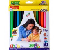 Цветные карандаши JUMBO,  точилкой 12 цветов