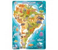 DODO Пазл з рамкою  Південна Америка 53 елементи(24)