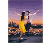 Картина по номерам. Танцующая пара. Brushme  Ла ла ленд *