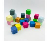 Кубики кольрові 24 ел в картонній коробці *