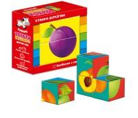 Деревянные кубики. Фрукты  ZB1001-04 (укр)