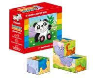Деревянные кубики. Зоопарк ZB1001-02 (укр)
