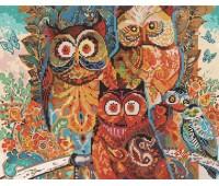 Brushme Алмазная живопись Цветные совы *