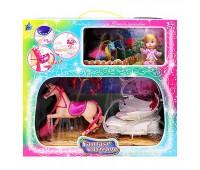 Карета з коником і лялькою (озвучена з муз. та світ. ефект.) ( коробка) SМ3006 р.37*22*14 см *