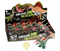 Динозавр  заводной свет.3в.4цв.12шт.в кор.