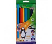 Цветные карандаши, 12 цветов, KIDS LINE *