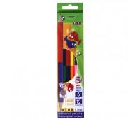 Цветные карандаши Double, 6 шт. (12 цветов, KIDS LINE