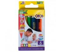 Цветные карандаши  mini JUMBO, 6 цветов