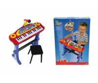 """Simba. Музыкальный инструмент """"Клавишные-парта"""" с микрофоном, стульчиком и световыми эффектами. 6838629"""