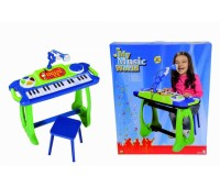 """Simba. Музыкальный инструмент """"Клавишные-парта"""" с микрофоном, стульчиком и световыми эффектами. 6838886"""