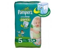 4015400610502. PAMPERS Детские подгузники-трусики Active Boy Junior 5 (12-18 кг) Микро Упаковка 15