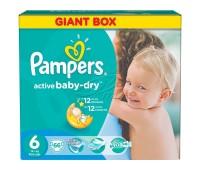 4015400737155. PAMPERS Детские подгузники Active Baby-Dry Extra Large 6 (15+ кг) Джайнт Плюс Упаковка 66