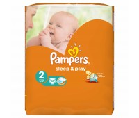 4015400122807. PAMPERS Детские подгузники Sleep & Play Mini 2 (3-6 кг) Стандарт 18