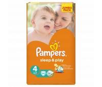 4015400203551. PAMPERS Детские подгузники Sleep & Play Maxi 4 (7-14 кг) Джамбо 68