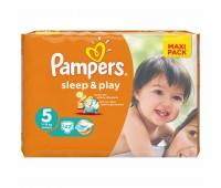 4015400224068. PAMPERS Детские подгузники Sleep & Play Junior 5 (11-18 кг) Економ 42