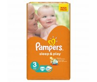 4015400224211. PAMPERS Детские подгузники Sleep & Play Midi 3 (4-9 кг) Економ 58