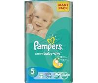 4015400649809. PAMPERS Детские подгузники Active Baby-Dry Junior 5 (11-18кг) Экономичная упаковка Минус 36
