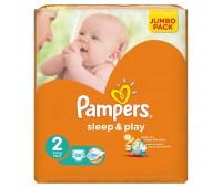 4015400378952. PAMPERS Детские подгузники Sleep & Play Mini 2 (3-6 кг) Джамбо 88