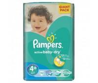 4015400736325. PAMPERS Детские подгузники Active Baby-Dry Maxi 4+ (9-16 кг) Джайнт 70