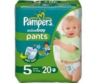 4015400255512. PAMPERS Детские подгузники Active Boy Junior 5 (12-18 кг) Стандарт 20