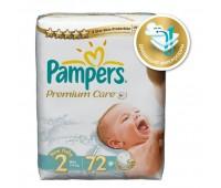 4015400274728. PAMPERS Подгузники Prem. Care Mini 2 (3-6 кг) Экономичная упаковка 72