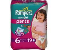 4015400255727. PAMPERS Детские подгузники Active Girl Extra Large 6 (16+)Стандарт 19